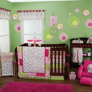 Splash Pink Crib Bedding Collection by Trend Lab