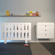 Spot On Square 2 Piece Nursery Set - Eicho Convertible Crib and Changing Station in White