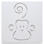 Spot On Square  Marcel the Monkey Wall Decor in White