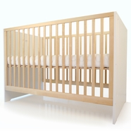 Spot on Square Oliv Convertible Crib in White & Birch