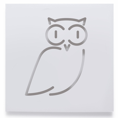 Spot On Square  Philip the Owl Wall Decor in White
