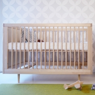 Spot on Square Ulm Convertible Crib in Birch
