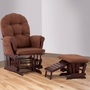 Status Roma Glider and Nursing Ottoman in Cherry and Chocolate