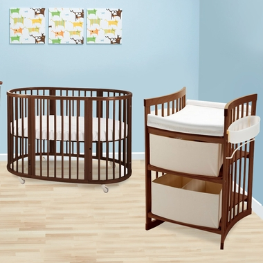 Stokke Sleepi 2 Piece Nursery Set Modern Oval Crib With