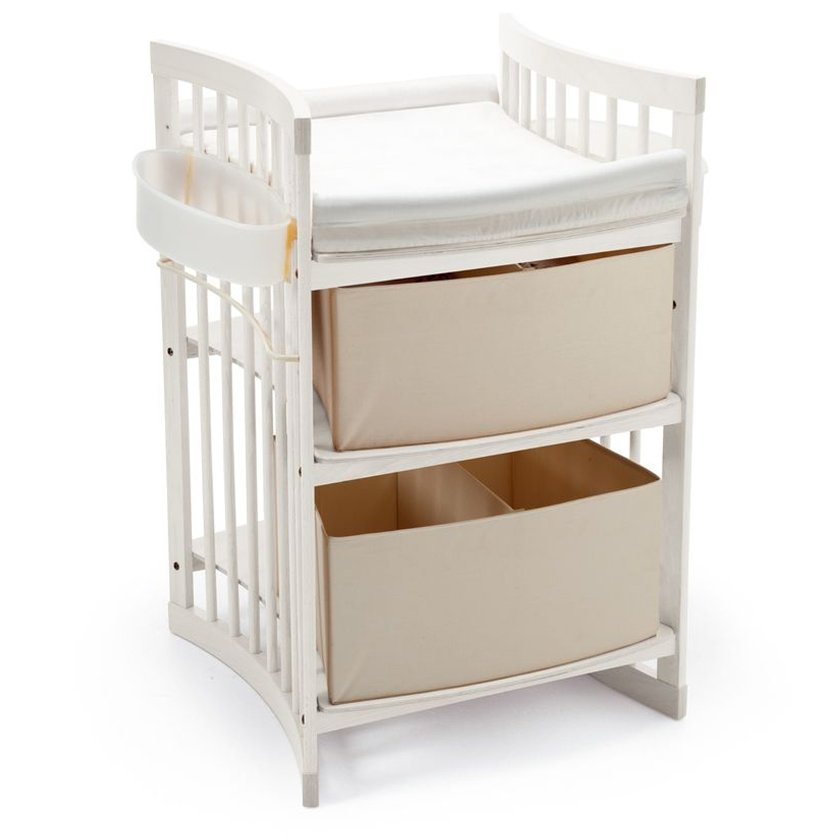 stokke sleepi  piece nursery set  modern oval crib with mattress  - stokke sleepi  piece nursery set  modern oval crib with mattress drawer dresser and care changing table in white free shipping