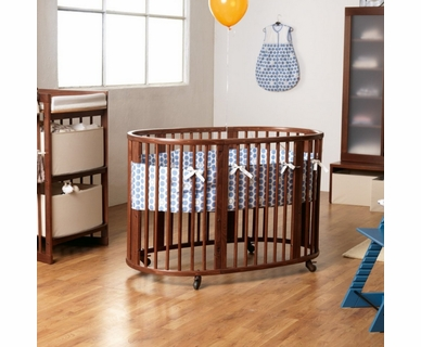 Stokke Sleepi Crib in Walnut Brown with Mattress