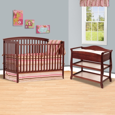 storkcraft cherry bradford 4 in 1 convertible crib and