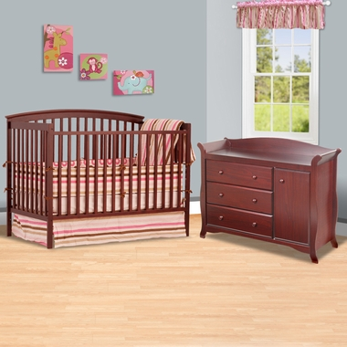 Other Views White Crib Changer Combo Toddler Bed