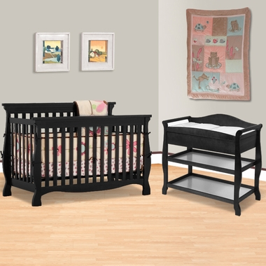 Storkcraft Aspen Changing Table Home » Storkcraft Carrara Fixed Side 4 In 1 Convertible Crib Set ...