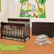 Storkcraft 2 Piece Nursery Set - Modena Convertible Crib and Destin 6 Drawer Dresser in Cherry