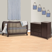 Storkcraft 2 Piece Nursery Set - Monza II 2 in 1 Convertible Crib and Beatrice Combo Dresser / Changer in Espresso