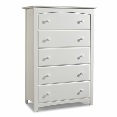 Storkcraft Kenton 5 Drawer Dresser in White - Click to enlarge