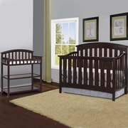 Storkcraft 2 Piece Nursery Set - Sorrento Lifestyle Crib and Changing Table in Espresso