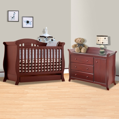 Storkcraft Cherry Vittoria 3 In 1 Convertible Crib And