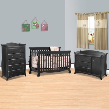 Convertible Crib Combo Dresserchanger And 5 Drawer Dresser French