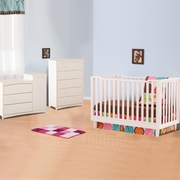 Storkcraft Santino 3 In 1 Fixed Side Convertible Crib In