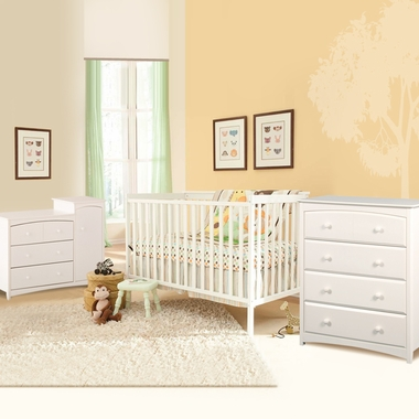 Combo Dresser Changer And Beatrice 4 Drawer Dresser In