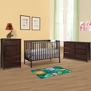 Storkcraft 3 Piece Nursery Set Sheffield Convertible