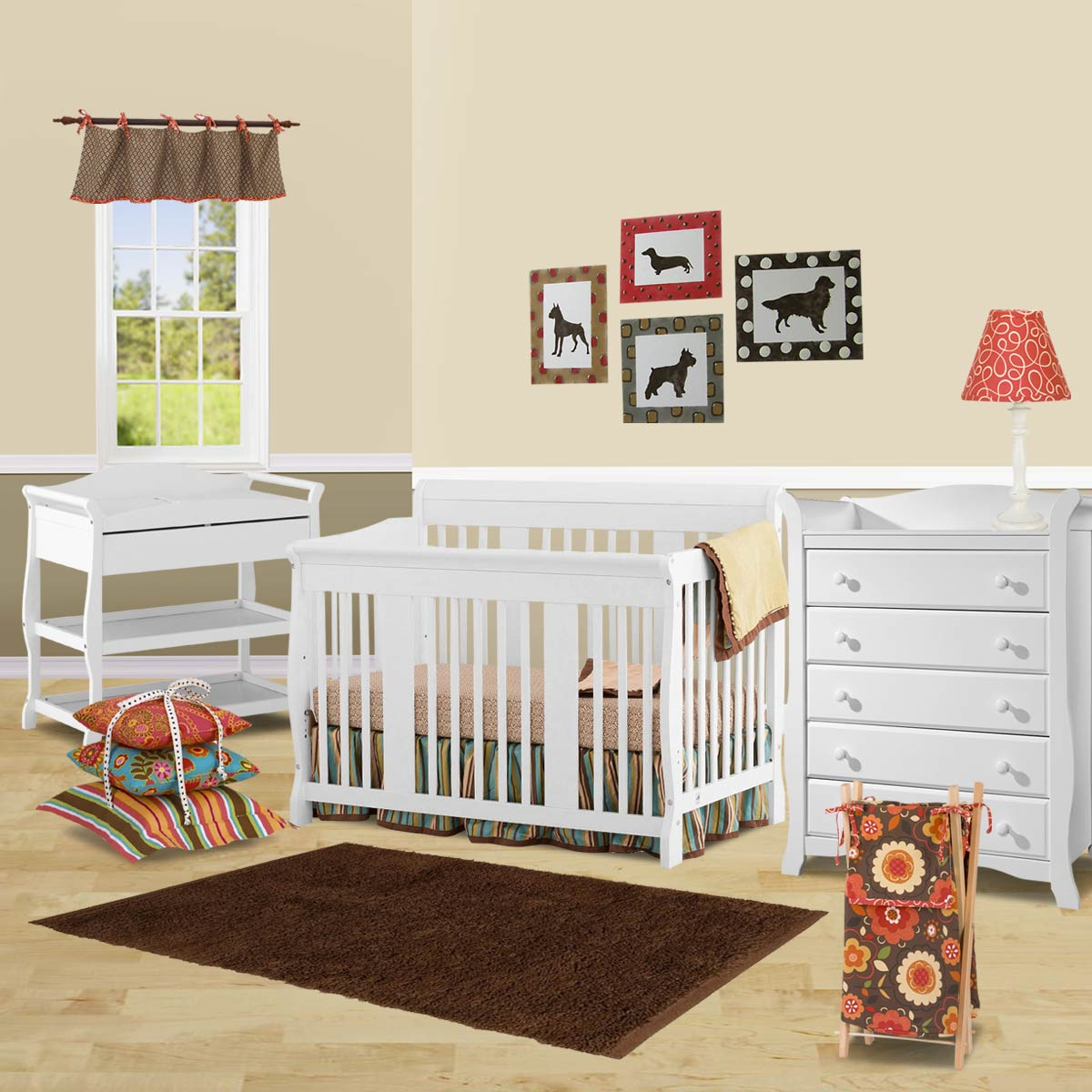 Storkcraft 3 Piece Nursery Set Tuscany Convertible Crib Aspen Changing Table And Avalon 5 Drawer Dresser In White