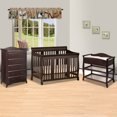Crib Aspen Changing Table 5 Drawer Dresser 3 Piece Nursery