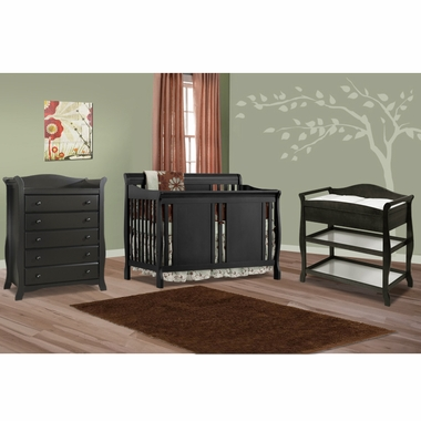 Storkcraft 3 Piece Nursery Set Verona Convertible Crib Aspen Changing Table And Avalon 5