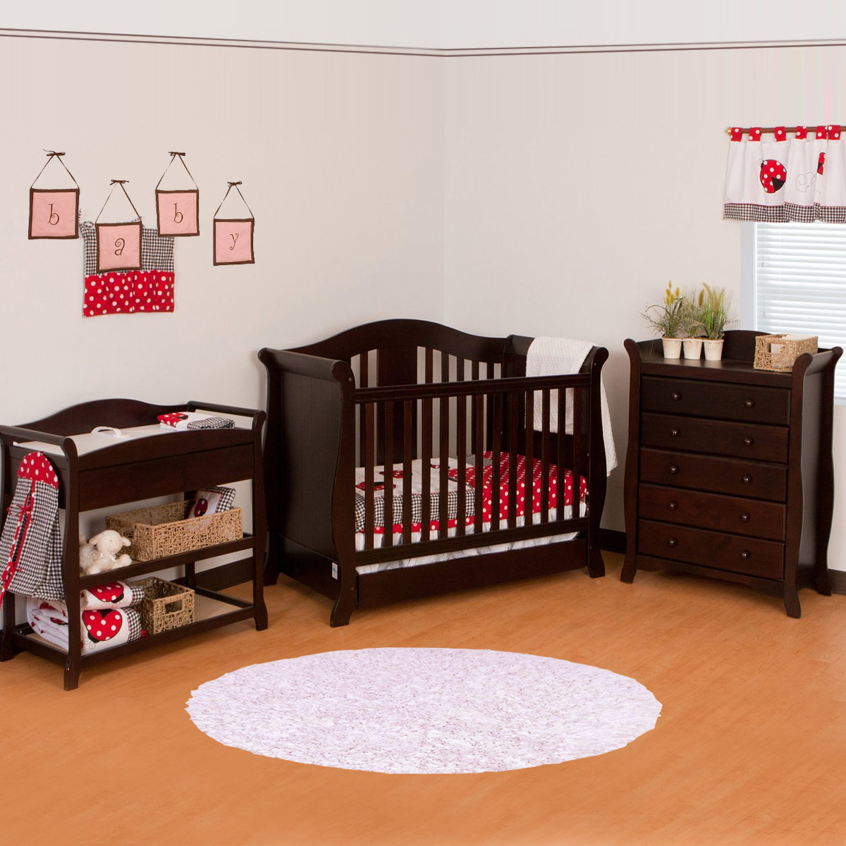 Storkcraft 3 Piece Nursery Set   Vittoria Convertible Crib, Aspen Changing  Table And Avalon 5 Drawer Dresser In Espresso FREE SHIPPING