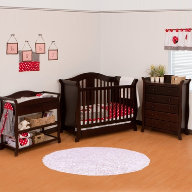 Storkcraft 3 Piece Nursery Set - Vittoria Convertible Crib, Aspen ...