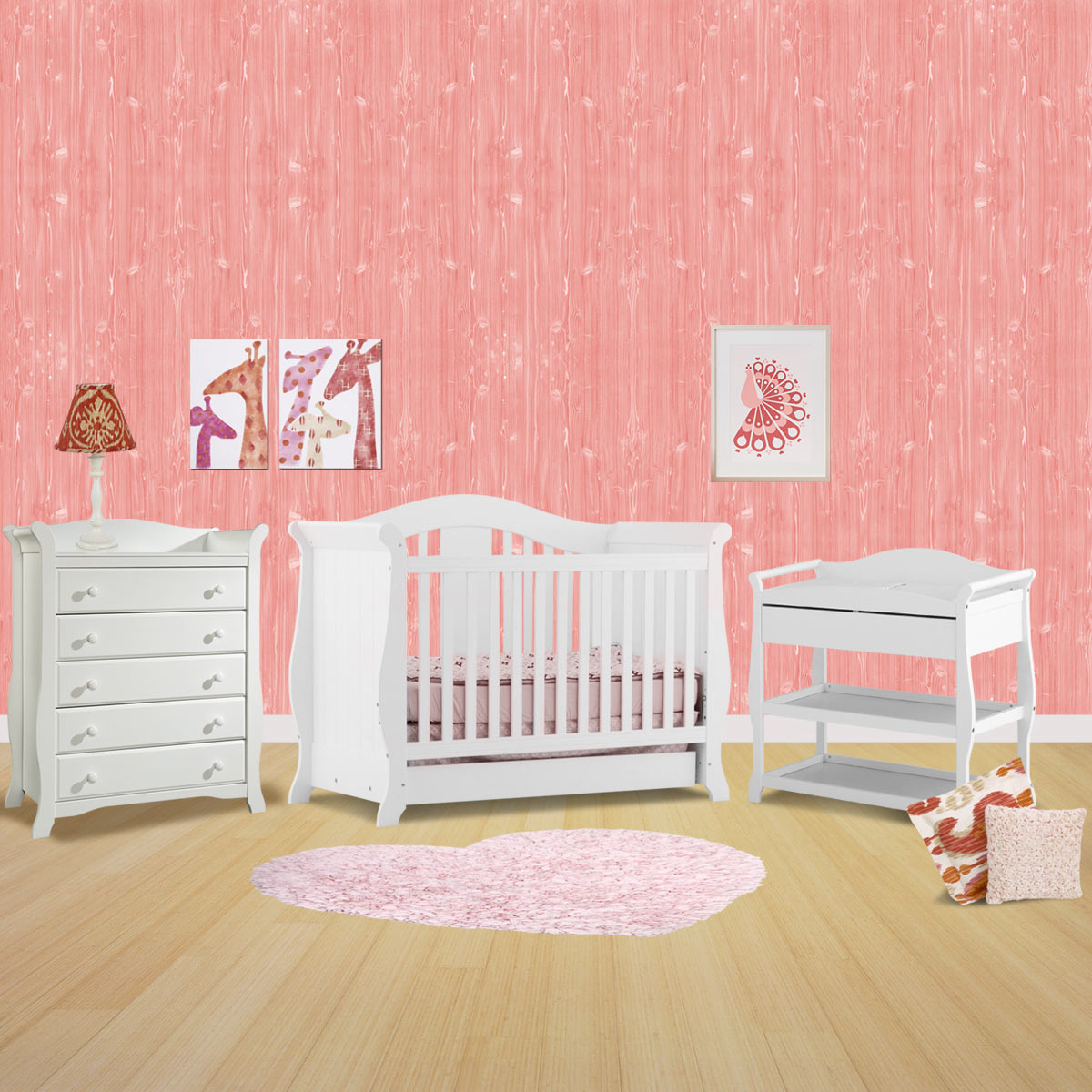 Storkcraft 3 Piece Nursery Set   Vittoria Convertible Crib, Aspen Changing  Table And Avalon 5 Drawer Dresser In White FREE SHIPPING