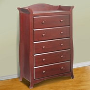 Storkcraft Aspen 5 Drawer Dresser / Chest of Drawers in Cherry