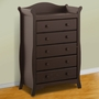Storkcraft Aspen 5 Drawer Dresser / Chest of Drawers in Espresso