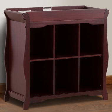 Storkcraft Aspen 6 Cube Organizer/Change Table in Cherry - Click to enlarge