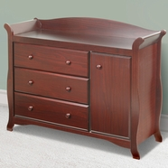 Storkcraft Aspen Sleigh Combo Dresser / Changer in Cherry
