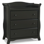 Storkcraft Avalon 3 Drawer Dresser in Black