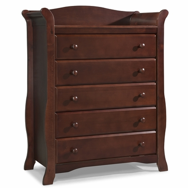 Storkcraft Avalon 5 Drawer Dresser in Cherry - Click to enlarge