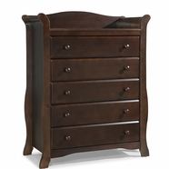 Storkcraft Avalon 5 Drawer Dresser in Espresso