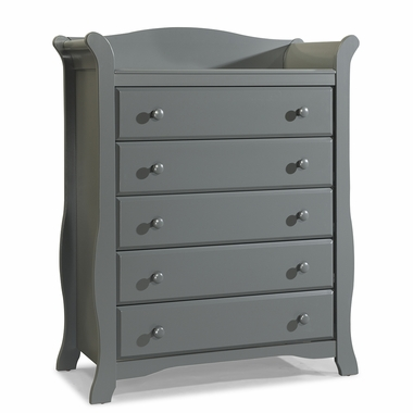 Storkcraft Avalon 5 Drawer Dresser in Gray - Click to enlarge