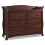 Storkcraft Avalon 6 Drawer Dresser in Cherry