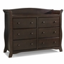Storkcraft Avalon 6 Drawer Dresser in Espresso