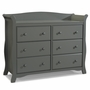 Storkcraft Avalon 6 Drawer Dresser in Gray