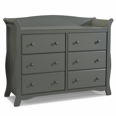 Storkcraft Avalon 6 Drawer Dresser in Gray - Click to enlarge