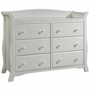 Storkcraft Avalon 6 Drawer Dresser in White