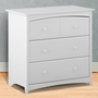 Storkcraft Beatrice 3 Drawer Dresser in White
