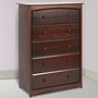 Storkcraft Beatrice 5 Drawer Dresser / Chest of Drawers in Cherry