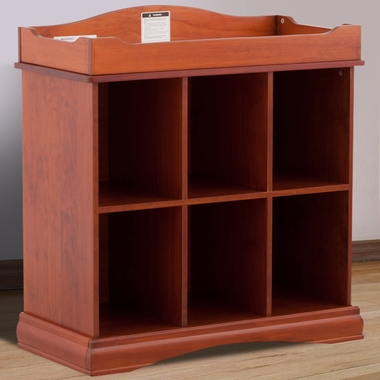 Storkcraft Beatrice 6 Cube Organizer/Change Table in Cognac - Click to enlarge