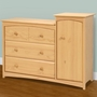 Storkcraft Beatrice Combo Tower / Dresser in Natural
