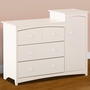 Storkcraft Beatrice Combo Tower / Dresser in White