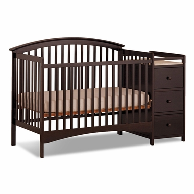 Storkcraft Bradford 4 in 1 Fixed Side Convertible Crib & Changer in Espresso - Click to enlarge