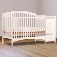 Storkcraft Bradford Crib n Changer in White