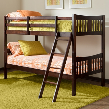 Storkcraft Caribou Bunk Bed in Espresso - Click to enlarge