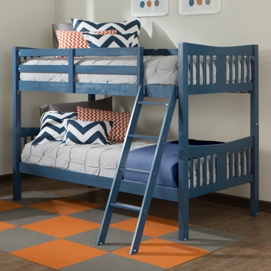 Storkcraft Caribou Bunk Bed in Navy - Click to enlarge
